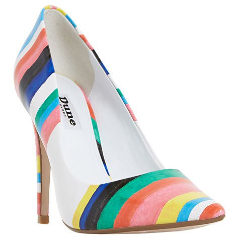 Buy Dune Brazil Striped Court Shoes, Multi Online at johnlewis.com