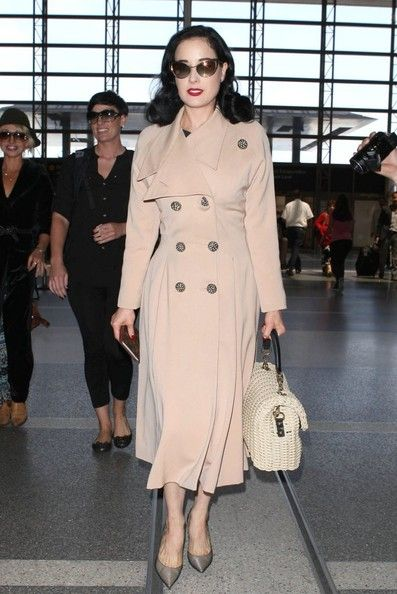 Dita Von Teese Photos Photos - Burlesque model Dita Von Teese departing on a flight at LAX in Los Angeles, California on May 17, 2013. - Dita Von Teese Leaves LA — Part 2