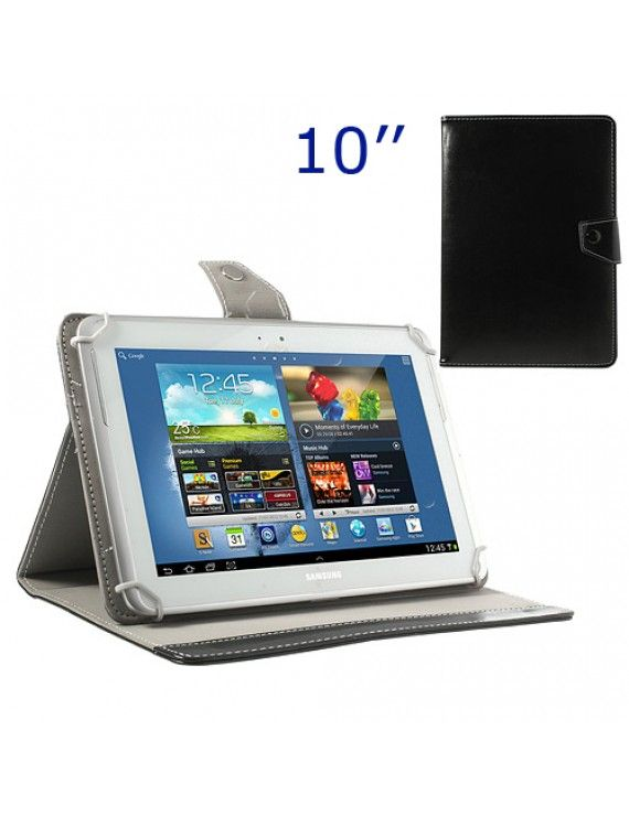 Universal Δερμάτινη Θήκη Βιβλίο με Βάση Στήριξης για iPad Air / Sony Xperia Tablet Z 10 ιντσών Tablet PC - Μαύρο