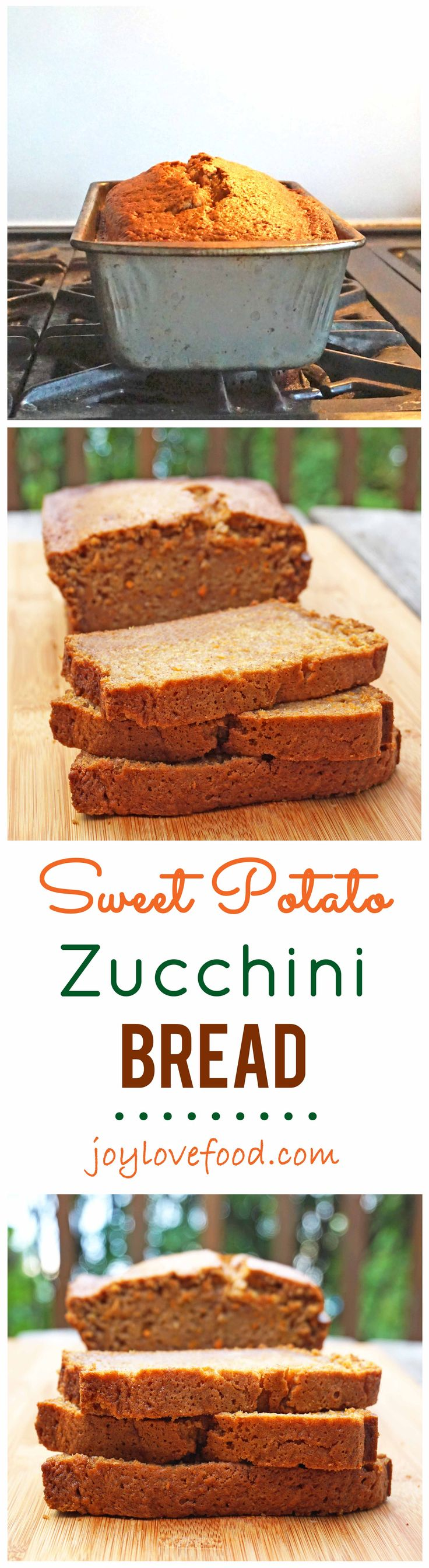 The flavors of late summer and early fall come together beautifully in this deliciously fragrant Sweet Potato Zucchini Bread.