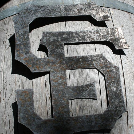 Hey, I found this really awesome Etsy listing at https://www.etsy.com/listing/100975643/sf-giants-rustic-logo-recyled-steel