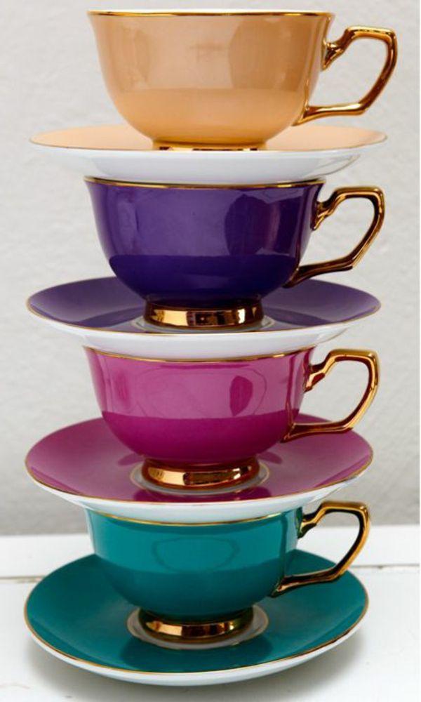 Teetassen und das Teetrinken in den verschiedenen Ländern