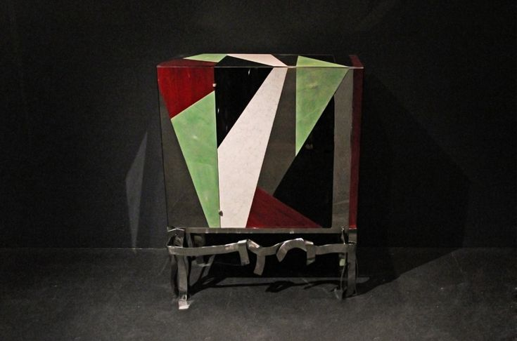 pergay's cabinet arlequin for fendi on display at design miami
