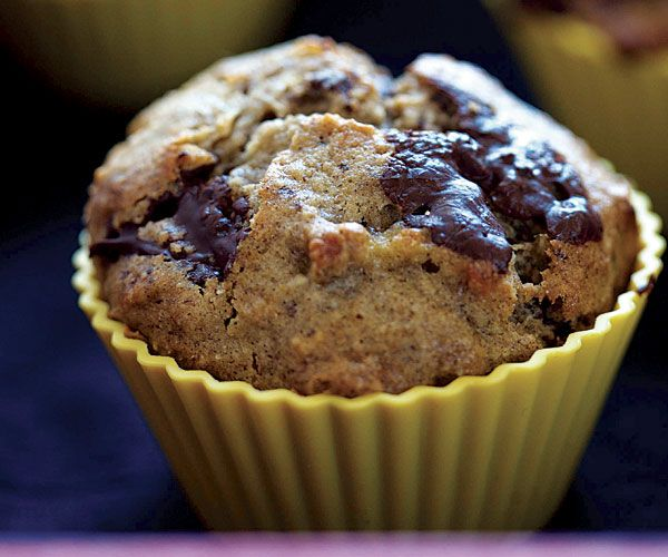 Banana Chocolate Hazelnut Muffins Recipe // subbed out the quinoa & hazelnut flours for whole wheat pastry flour and more buckwheat flour.