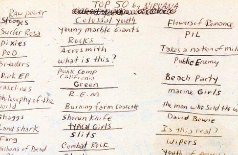 Kurt Cobain's Top 50 Album List