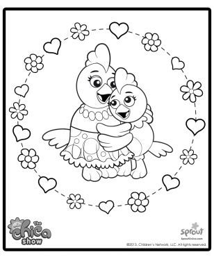 1000 images about the chica show on pinterest for Pbs sprout coloring pages
