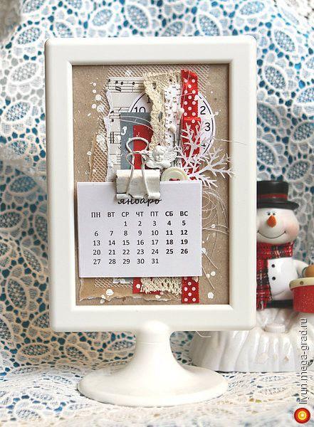 рамка-календарь - скрапбукинг, авторская фоторамка/рама. МегаГрад - город мастеров