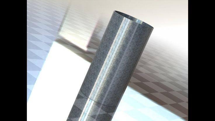 SolidWorks развертка трубы