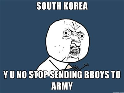 South Korean Bboys and the Army