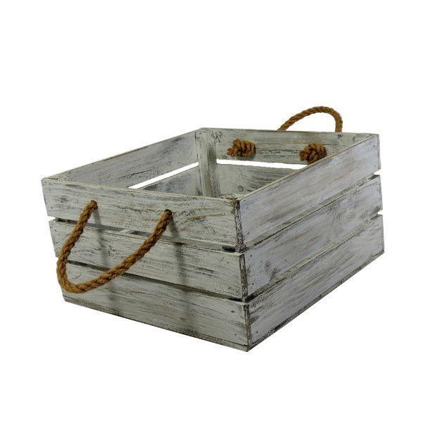 Skrzynka drewniana ozdobna 30x31 Biało Szara. Marka LAAU.PL, Shabby chic,