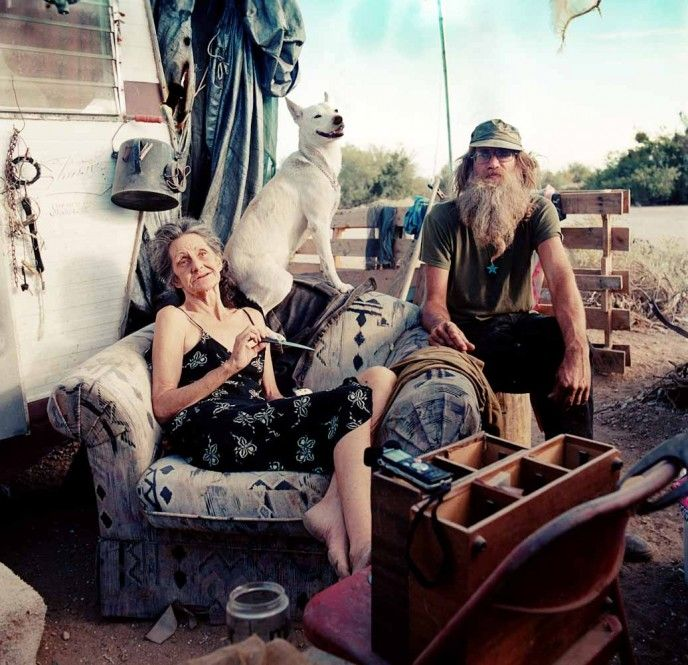 It is quite evident she also studied social work as well as photography. Her subjects seem to give her incredible insight. Photo © Claire Martin - Slab City