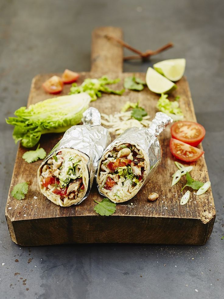 Cracking chicken burrito by Jamie Oliver. Doesn't look too complicated.