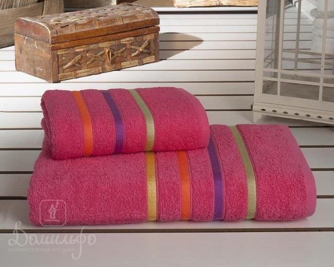 Набор полотенец BALE NEON малиновый 50х80 (1шт) и 70х140 (1шт) от Karna (Турция) - купить по низкой цене в интернет магазине Домильфо