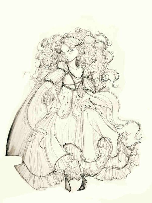 Merida concept art. I can't wait to see this tonight!