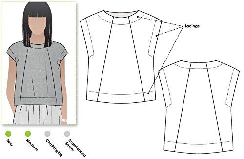 Style Arc Sewing Pattern - Ethel Designer Top (Sizes 04-16) - Click for Other Sizes Available Style Arc http://www.amazon.com/dp/B015MA6BGY/ref=cm_sw_r_pi_dp_7qc6wb1ZRYSB8