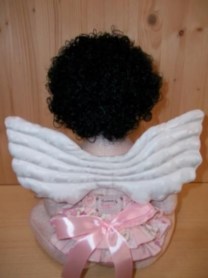 "Tutorial Angel PDF DIY, 71 pages, 75 Step by Step, Cloth doll pdf sewing and sculpting tutorial, OOAK Doll by Rossella Usai PDF Pattern & Tutorial to make a Baby Doll - ""Angel Baby in my garden"" It 'an Angel that one morning I imagined in my garden. Then it was sewn. I think an angel suitable as a Christmas gift or to decorate the child's room, or home decor.  The angel is 55 CM high."