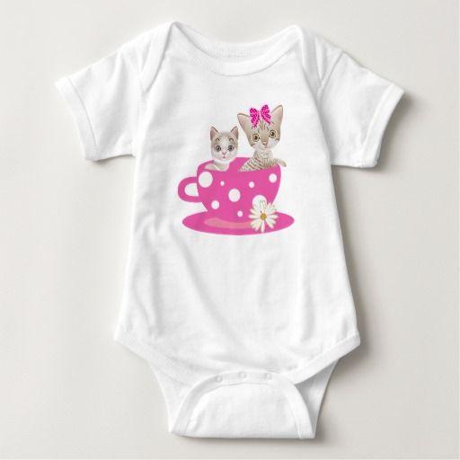 Cat Tshirt Personalized Cute Girl Baby Sleeper