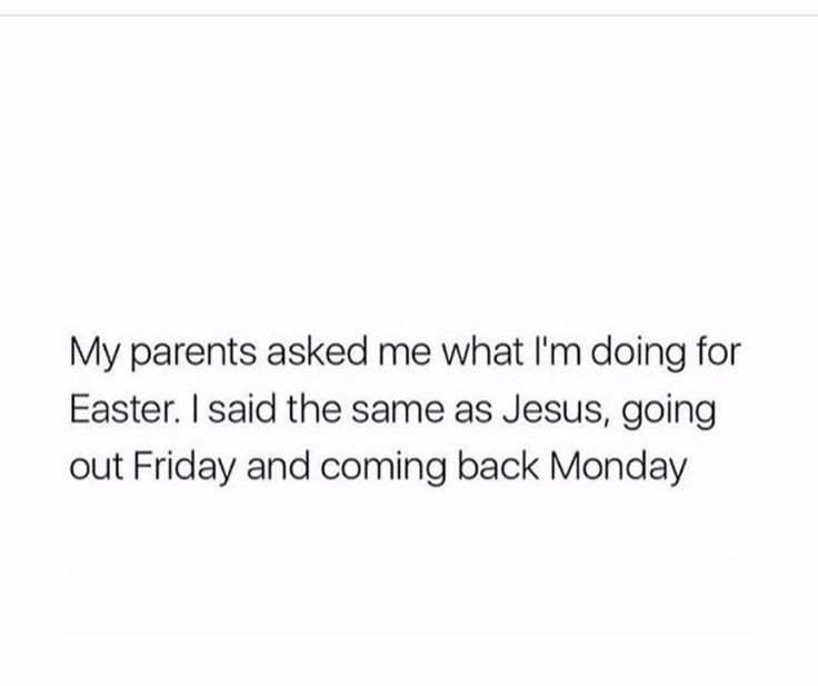 Easter plans