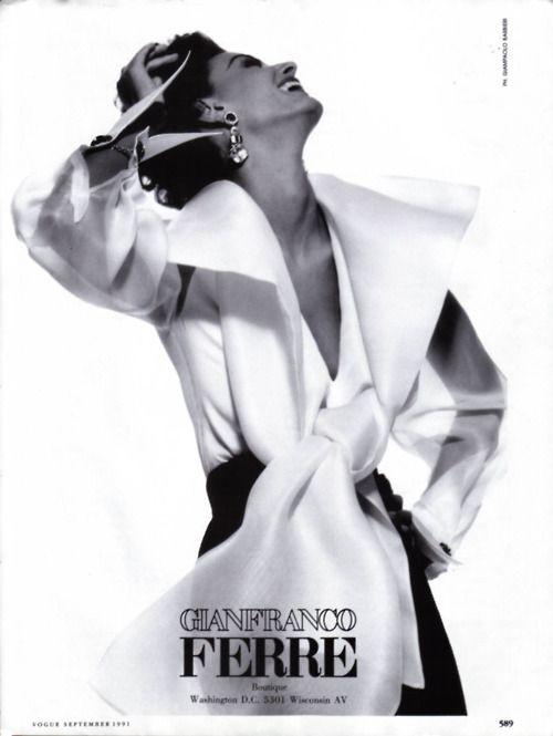 Gianfranco Ferre adModel: Aly Dunne. V