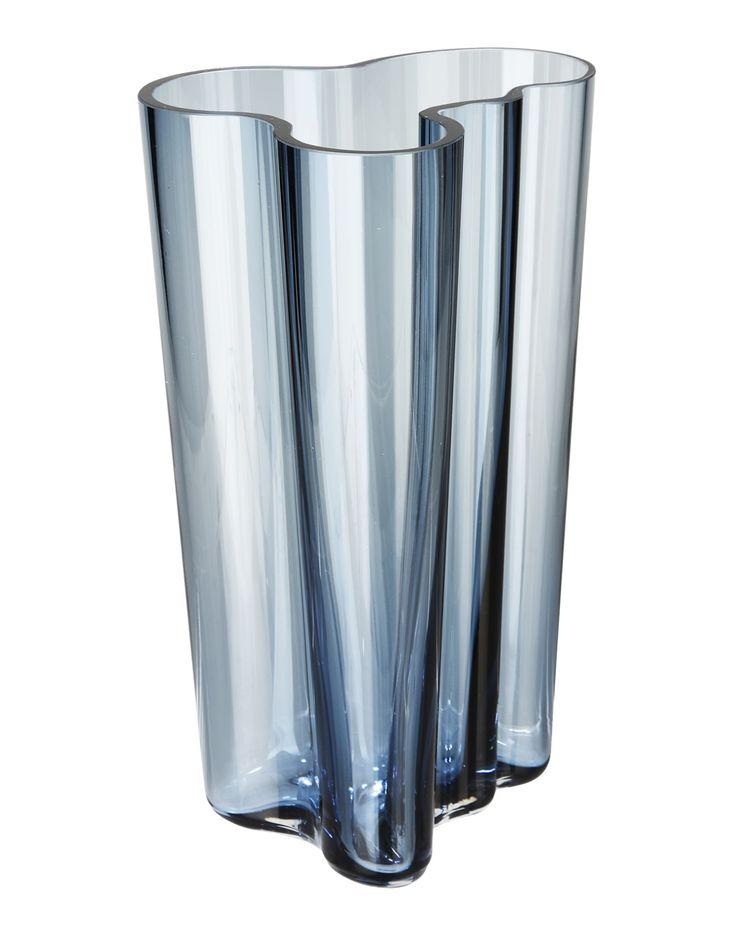 Blue glass iittala vase
