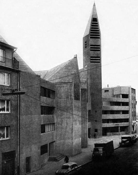 Gottfried Bohm - church of st gertrude with community center, Koln, 1964