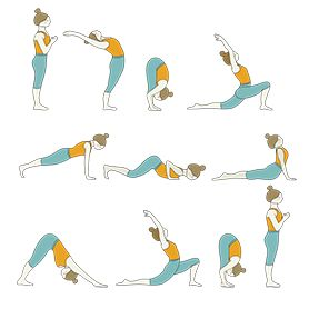 classic sun salutation variation yoga classic surya