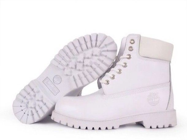 Can You Say All White.? All White Timberland Boots #AllWhite #Timberland