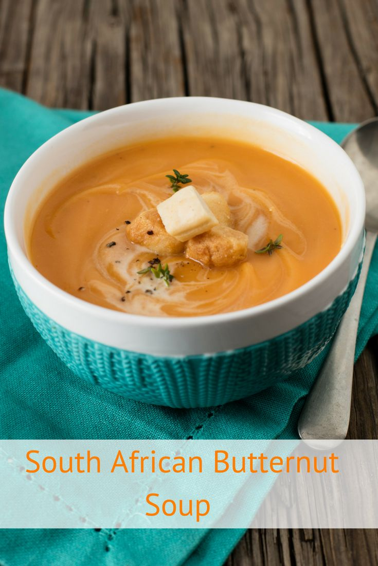 Easy South African Butternut Soup recipe. We've added a sweet pear and honey twist to one of South Africa's favourite butternut-based soups. Go on, warm your family up from the inside out tonight.