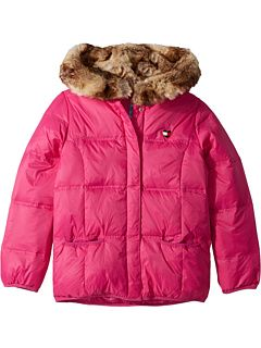 2494a166 Tommy Hilfiger Adaptive Puffer Jacket with Magnetic Buttons and Faux Fur  Hood (Little Kids/Big Kids)