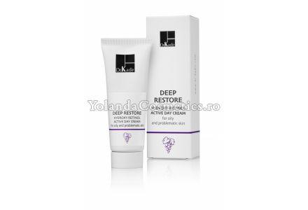 Crema hidratanta cu acizi de fructe si retinol - Deep Restore Hydroxy Retinol Day Cream for oily and problematic skin - 75 ml