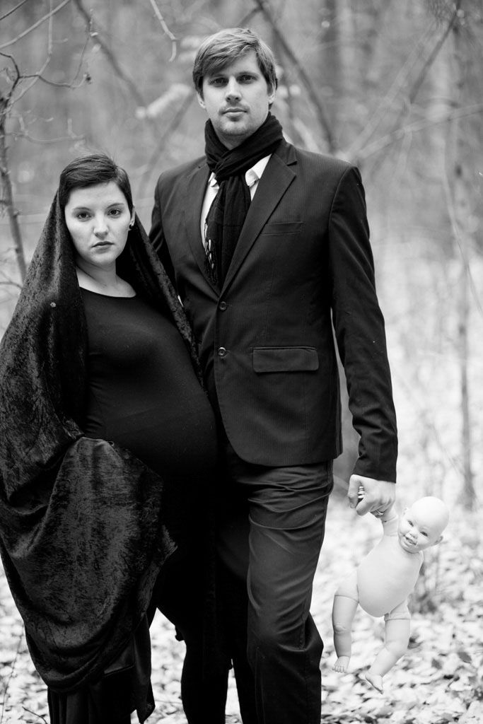 Photographer Sarina Engelbrecht and Designer/Stylist Jacques Muller from Nieu-Bethesda team up for an unusual maternity shoot with models Louis & Nicolene Marais.