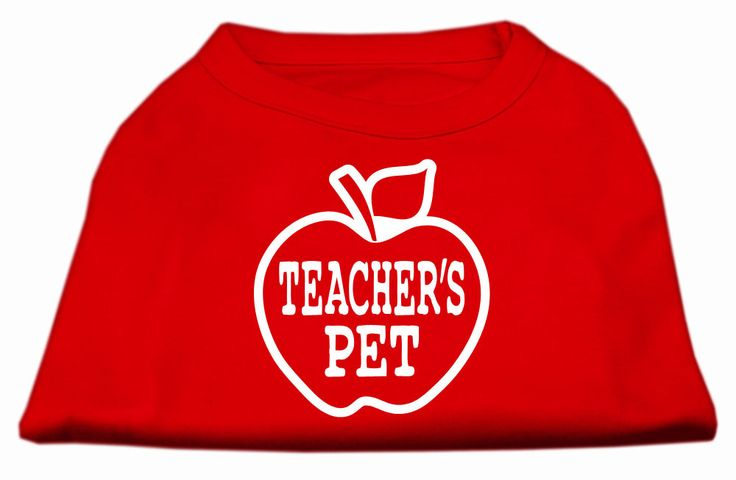 Teachers Pet Screen Print Shirt Red XL (16)