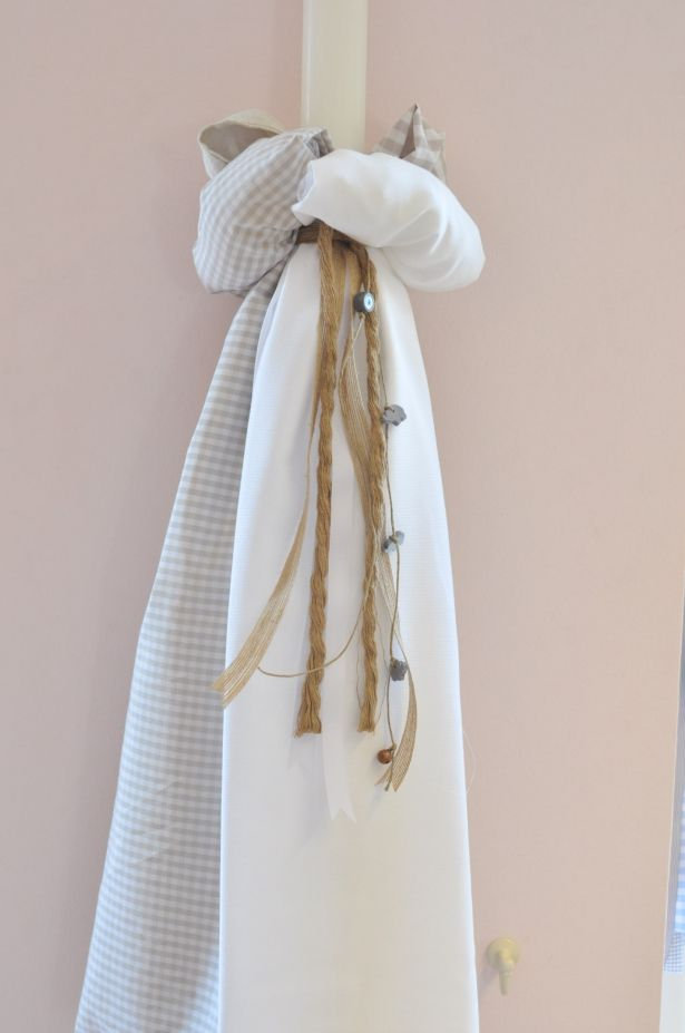 Λαμπάδα Βάπτισης με διάφορα υφάσματα.Μπορεί να γίνει συνδυασμός χρωμάτων και υφασμάτων.