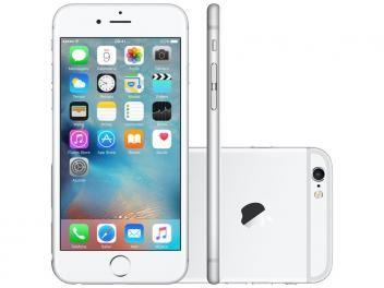 "iPhone 6S Plus Apple 16GB Prata 4G Tela 5.5"" - Retina Câm. 12MP + Selfie 5MP iOS 9 Proc. Chip A9"