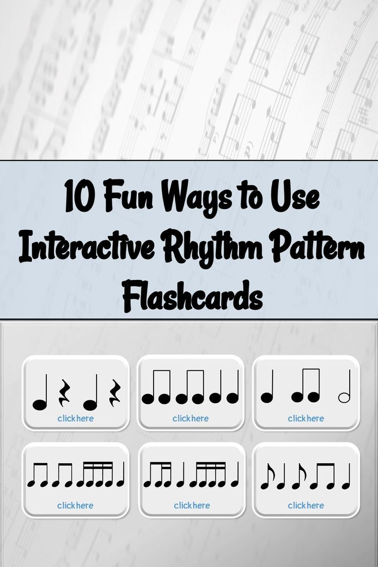 How To Use Interactive Rhythm Pattern Flashcards Elementary
