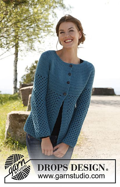 Ravelry: 142-6 Chantal - Jacket - free crochet pattern by DROPS design [DK]