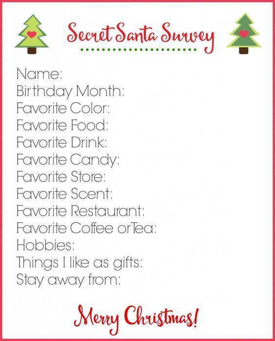 Best 25+ Secret santa online ideas on Pinterest Online secret - printable surveys