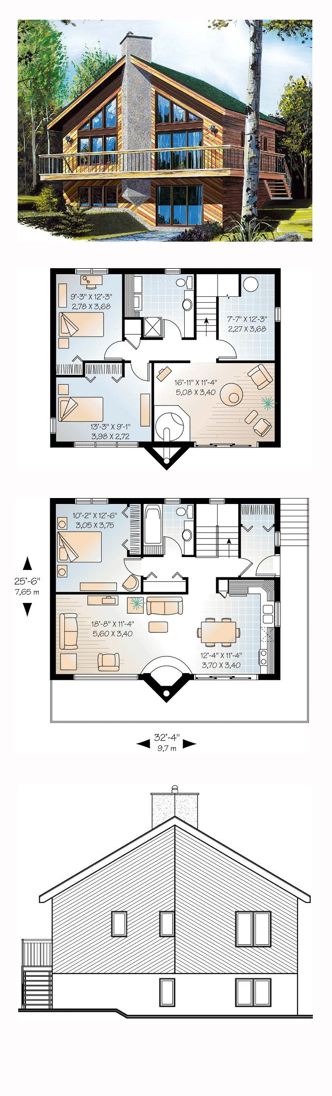 46 best a frame house plans images on pinterest a frame house