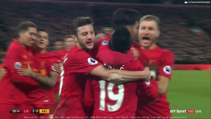 Sadio Mane Goal vs Arsenal - Liverpool vs Arsenal 2-0 2017
