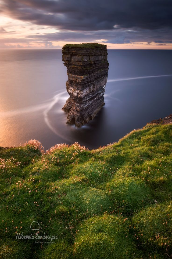 The Broken Fort - This is Dún Briste sea stack, meaning the broken fort, just off Downpatrick Head on the north Mayo coast.