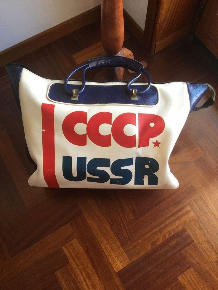 CCCP UNIONE SOVIETICA USSR BORSONE BAG BORSA TASCHE CARRYALL BOLSA VINTAGE