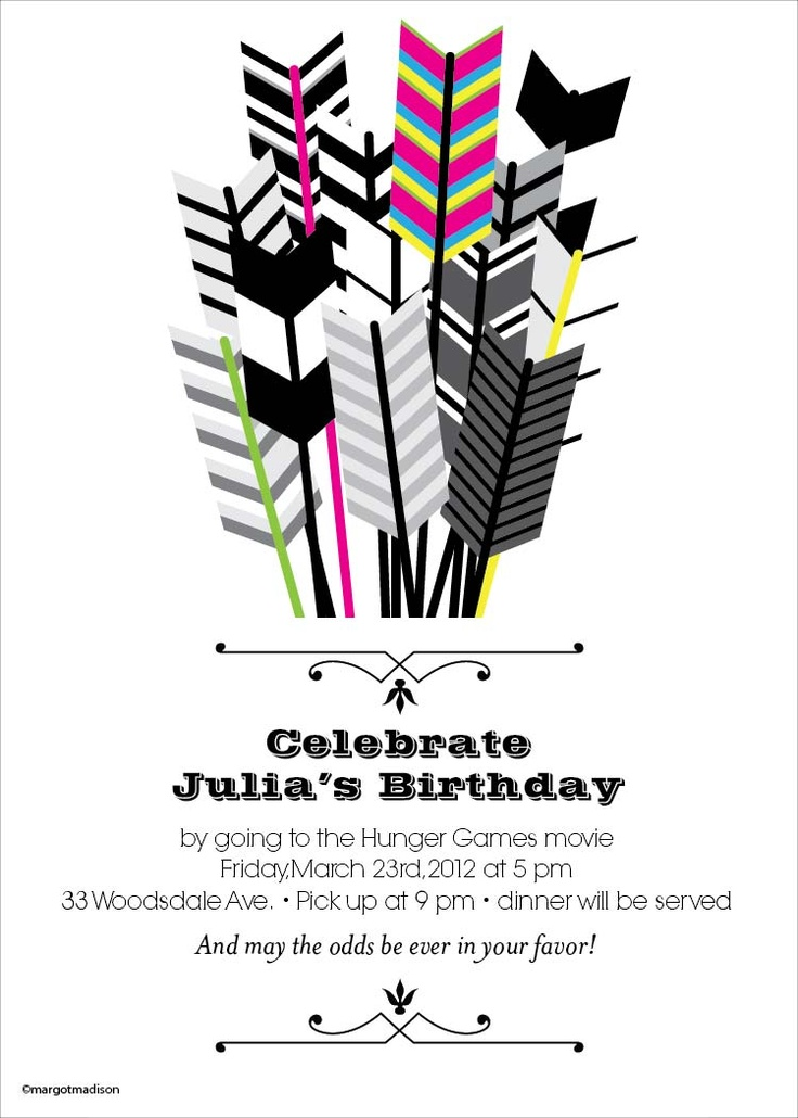 54 best hunger games birthday party images on pinterest game party hunger games invitation idea for hunger games movie marathon stopboris Choice Image