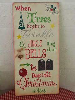 Kimber's Craft Day: Christmas Countdown Board
