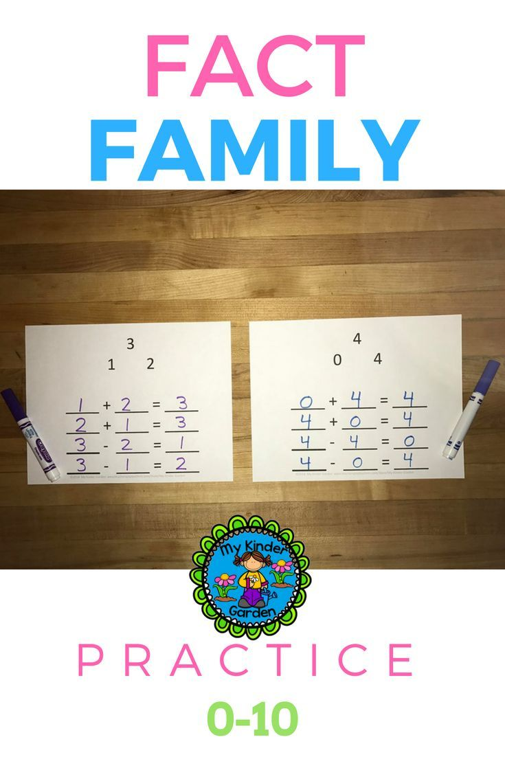 Fact Family Math Practice 0 10 This Activity Will Help Build Addition And Subtraction Knowledge As Students Practice Writing Math Practices Fact Families Math [ 1102 x 735 Pixel ]