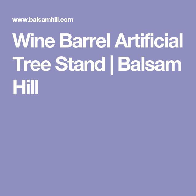 Wine Barrel Artificial Tree Stand | Balsam Hill