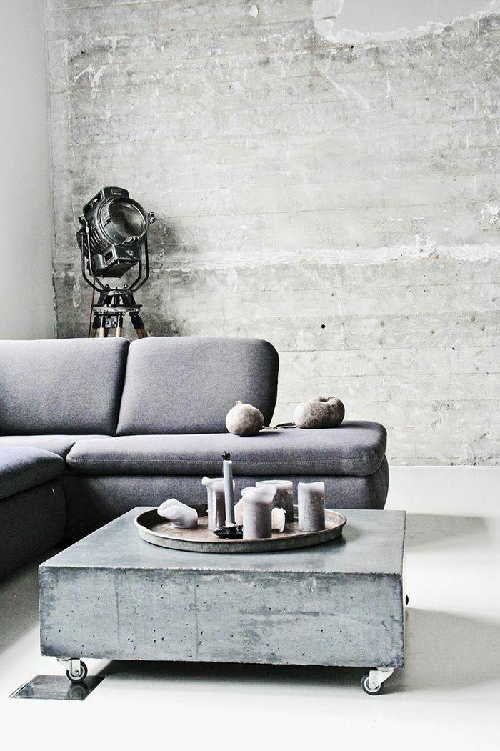 beton couchtisch cooles design minimalistisch