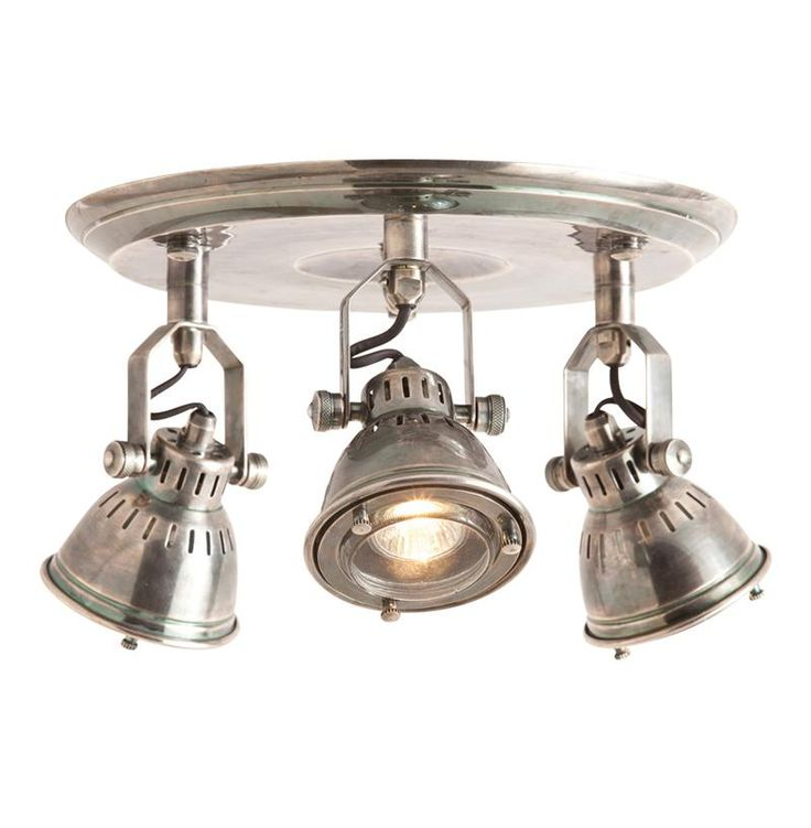 styles of lighting. trace industrial modern 3 light vintage silver flush mount fixture styles of lighting