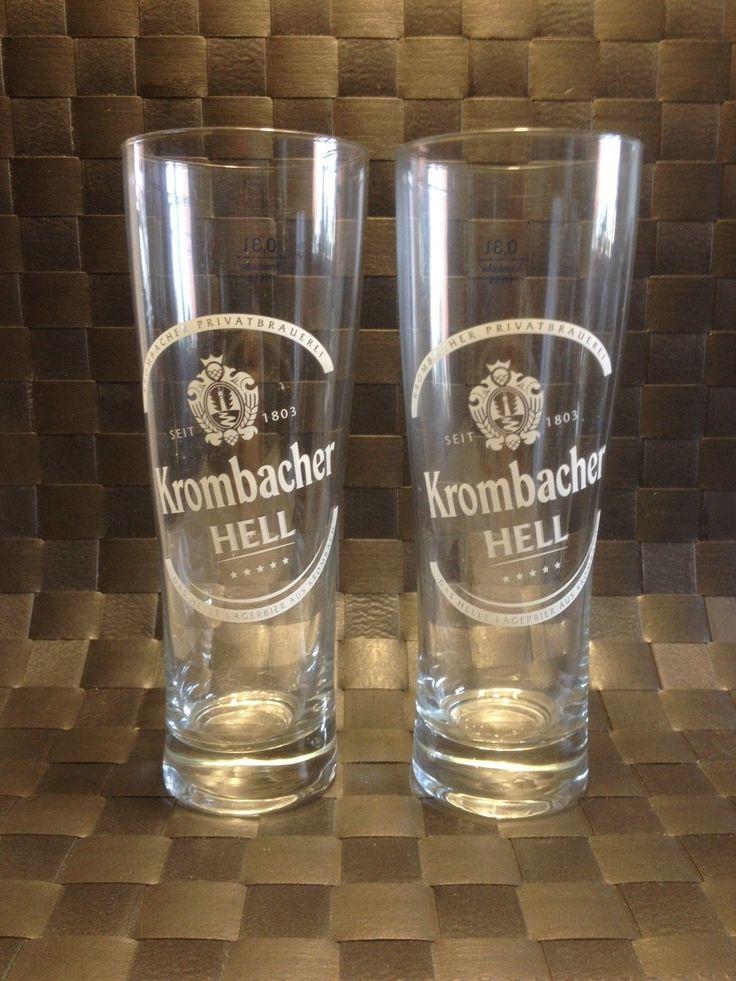 Krombacher - 2 German Beer Glasses 0.3 Litre - Hell - NEW in | eBay