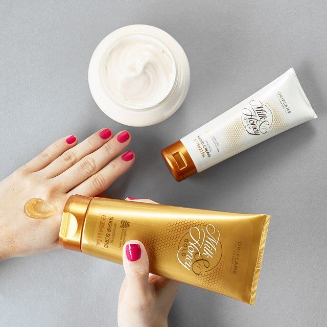 Instagram media by oriflame - Soothe your post-summer skin with natural milk and honey. Pure indulgence if you ask us!