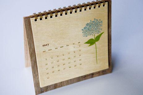 Museum of Creative Calendar Design - Wooden Desk Calendar
